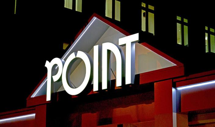 Световые буквы POINT на фасад