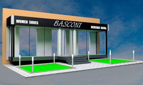 Дизайн фасада магазина Basconi