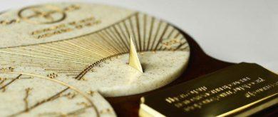 Солнечные часы с гравировкой
