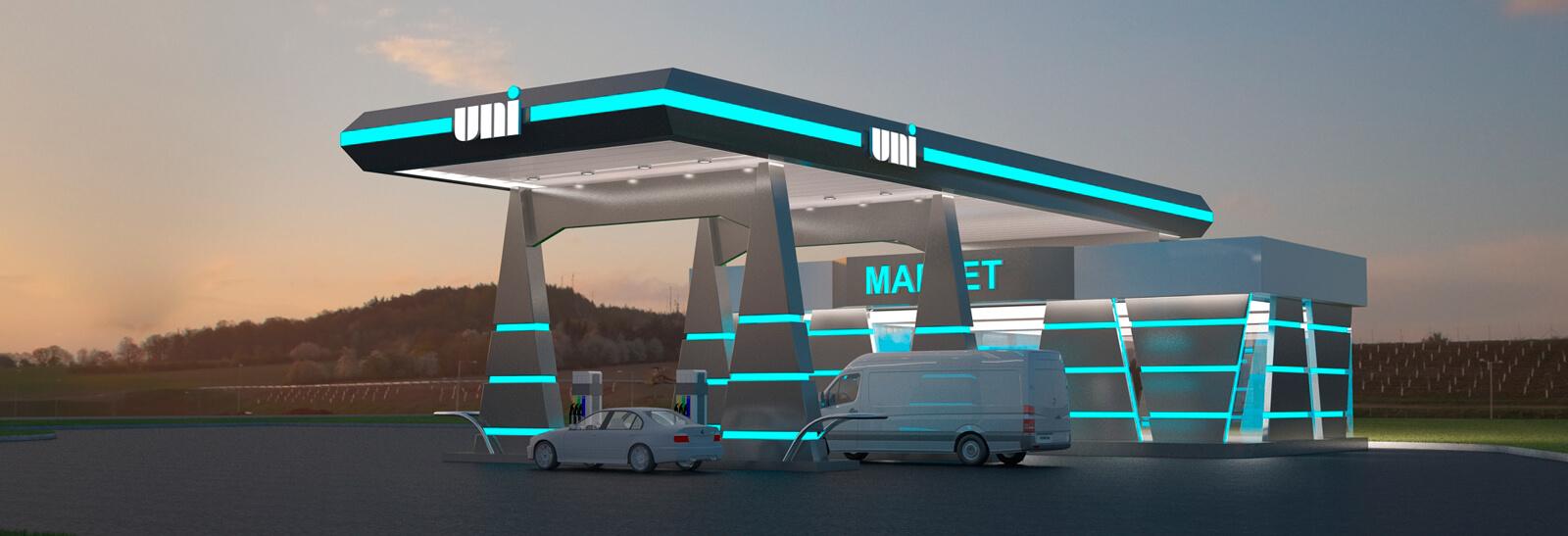 Дизайн проект большого авто заправочного комплекса в восточной части Украины