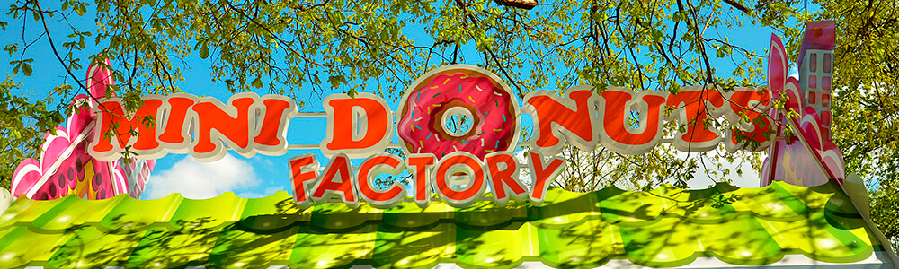 Оформление киоска по продаже пончиков в центральном парке Харькова