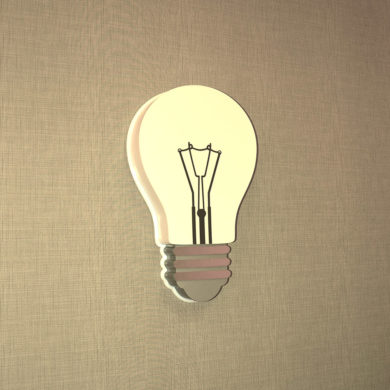 Светильник в виде лампы