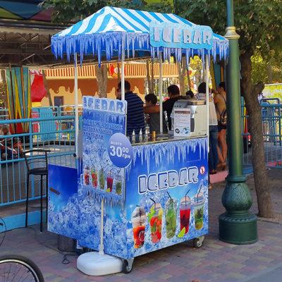 Вывеска ICEBAR с лед подсветкой