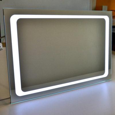 Прямоуголное зеркало с лед подсветкой