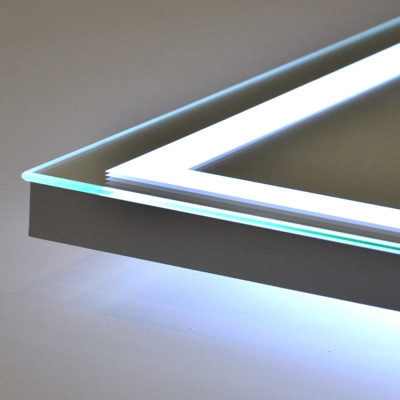 Угол зеркала с лед подсветкой