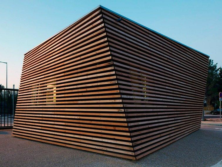 Дизайн киоска из дерева