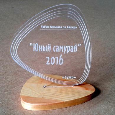Награда из акрила Юный Самурай