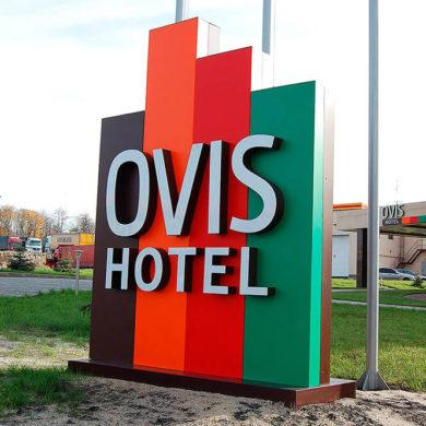 Стела OVIS HOTEL с лед подсветкой