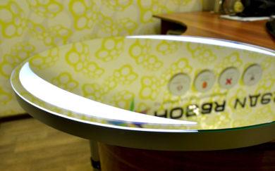 Круглое зеркало с лед подсветкой