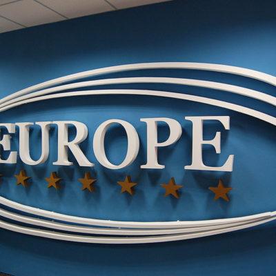 Интерьерные объёмные буквы EUROPE