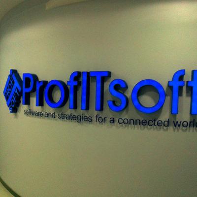 Объёмные буквы для офиса ProfiTsoft
