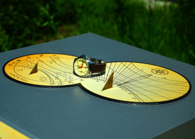 Солнечные часы круглые аналоговые