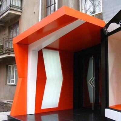 Креативная облицовка фасада