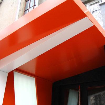 Участок облицовки фасада