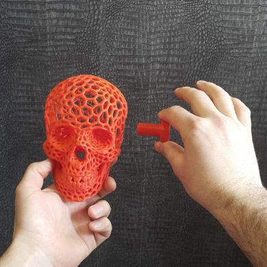 3д печать череп и болт