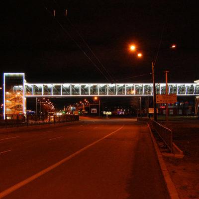 Светодиодная подсветка пешеходного перехода