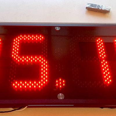 Светодиодные часы со стеклом