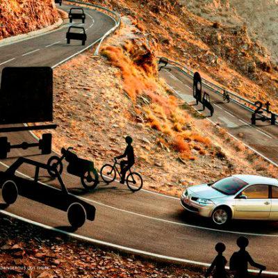 Необычная реклама марки автомобилей