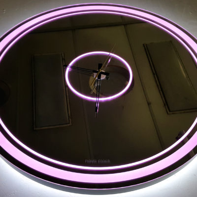 Круглые часы с лед подсветкой