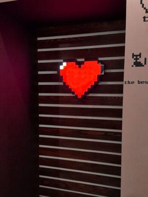 Лед светильник в виде сердца