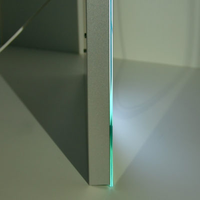 Зеркало с лед подсветкой в профиль