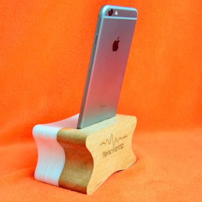 Резонатор из дерева и акрила для iphone