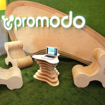Выставочный стенд с лед подсветкой Promodo