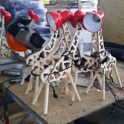 Светильник лампа жираф