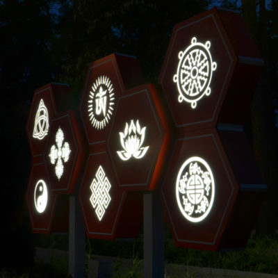 Световые символы из акрила и лед подсветки