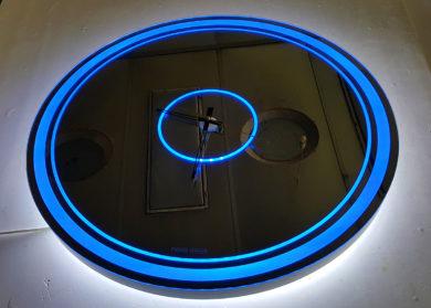 Зеркало часы Centorium с лед подсветкой