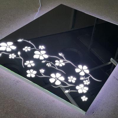 Зеркало с лед подсветкой Flowers
