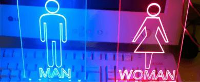 MAN and WOMAN буквы с лед подсветкой