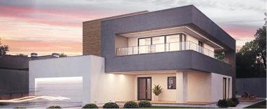 Дизайнерский фасад дома