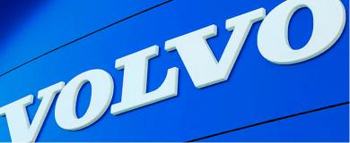 Стенд компании VOLVO с лед подсветкой