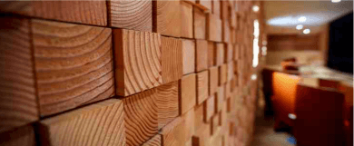 Дизайнерская облицовка стены