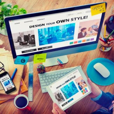 Офисный рабочий стол дизайнера