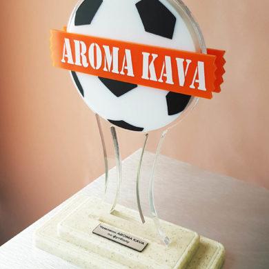 Сувенир AROMA KAVA с футбольной атрибутикой