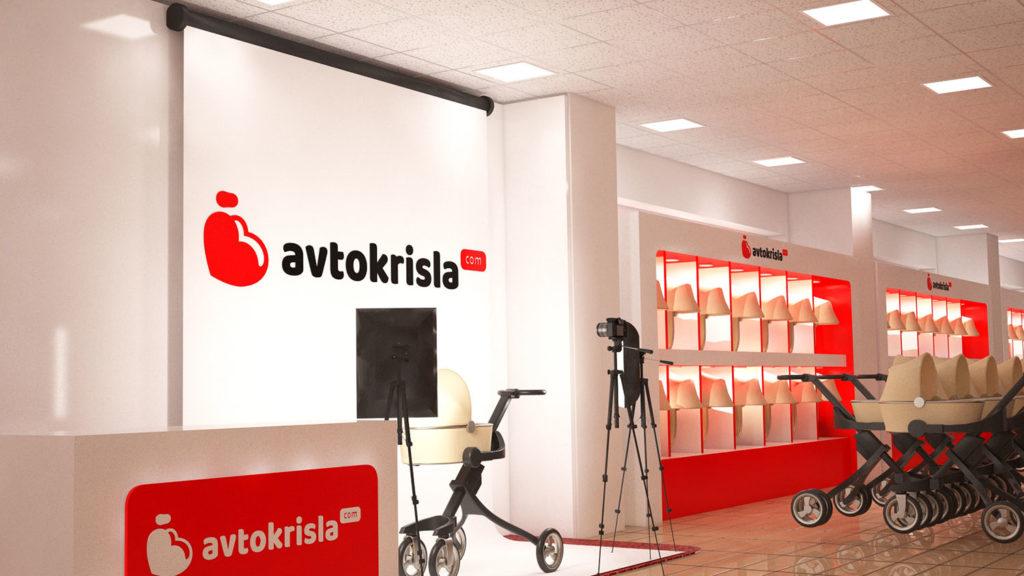 Дизайн магазина автокресел