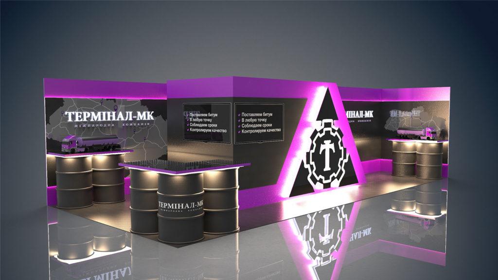 Оформление выставочного стенда Терминал-МК