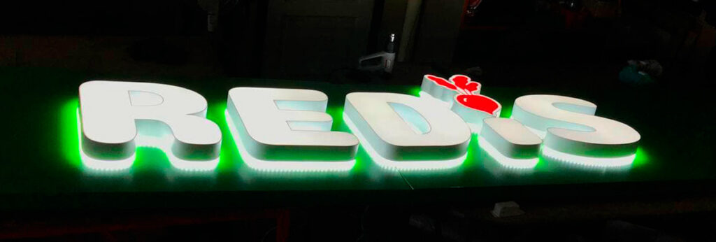 Подсветка объемные буквы